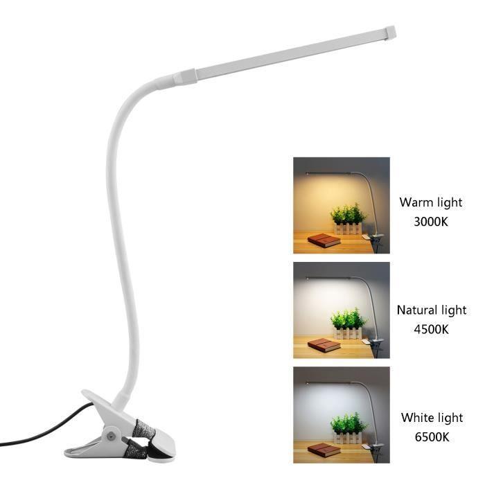 D'ongle;8w;blanc Lampe De Flexible Table D'art Le Yeux Bureau ZPkXiu