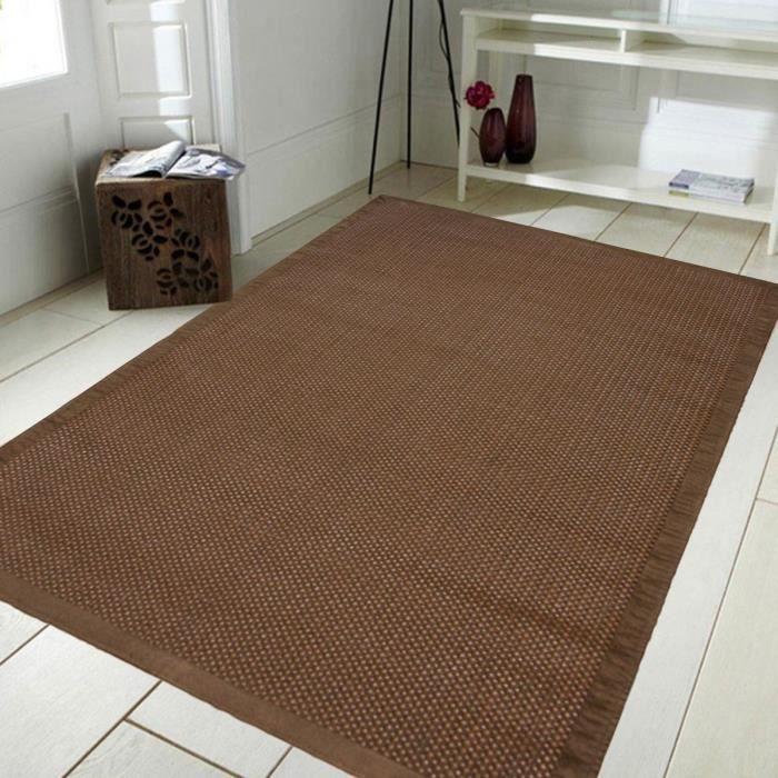 STRAW Tapis intérieur 160x230 cm Marron - Achat / Vente tapis ...