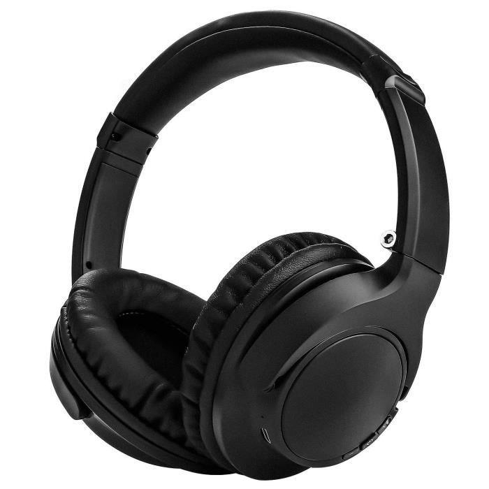 Casque Bluetooth sans fil stéréo anti-bruit