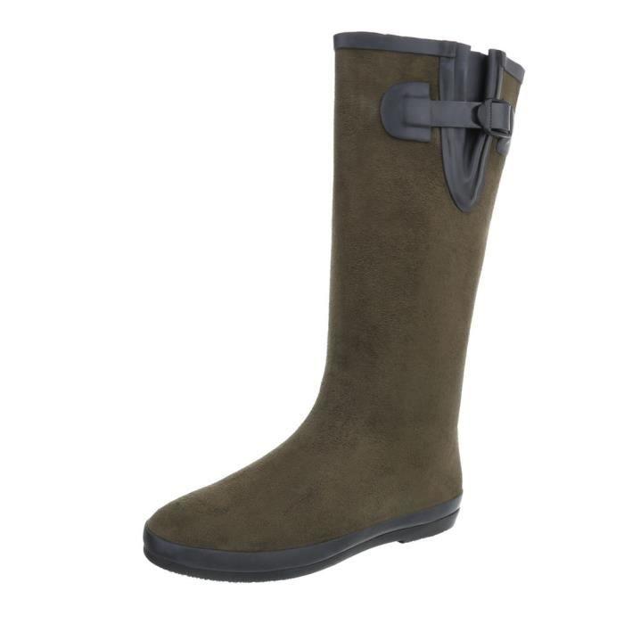 Chaussures femme botte caoutchouc Bottes Olive 41 Rb9HhzD