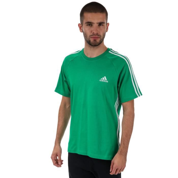 new products low price sale top quality T-Shirt adidas Promo pour homme en vert.