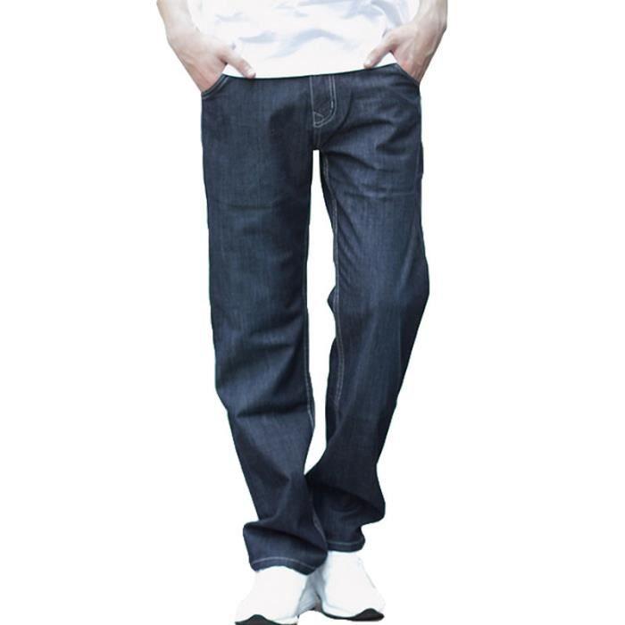 f60a3c0eab7 Jeans homme de marque luxe Jeans Version lâche Grande taille droit Section  mince Pantalon homme