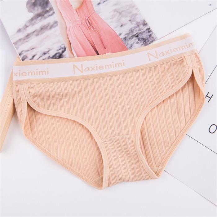 Gas String Beige vêtements Invisible Crotch Cotton Sous Féminins Transparente CqnTwxXaH1