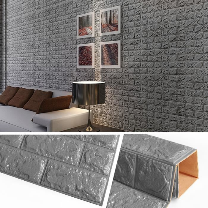Stickers Muraux Fond D Ecran Effet Briques 3d 60 60cm Papier Peint