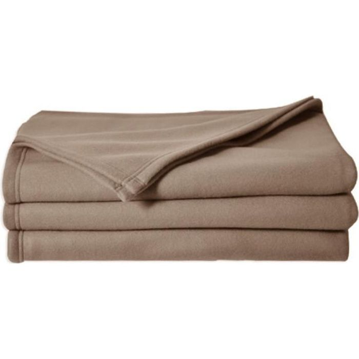 POLECO couverture polaire TAUPE 180 - Achat