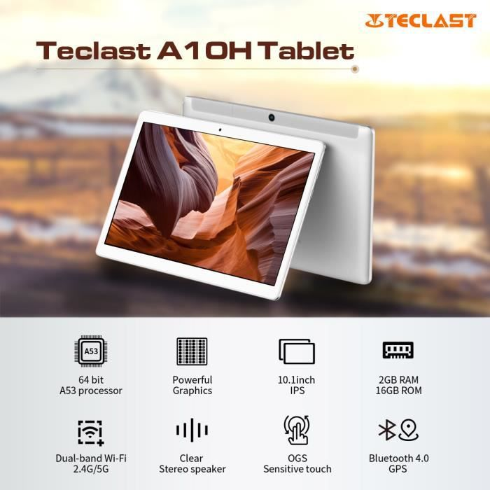 """TABLETTE TACTILE Teclast A10H 10.1"""" Tactile Tablette PC Androi"""