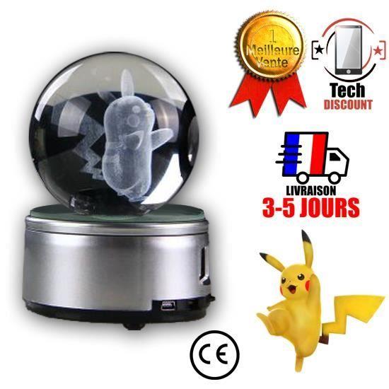 Et De 3d Décoration Cristal Tech Discount® Lampe Pokémon Noël Pokéball D'anniversaire Pikachu Cadeau Boule eE2YD9IWH