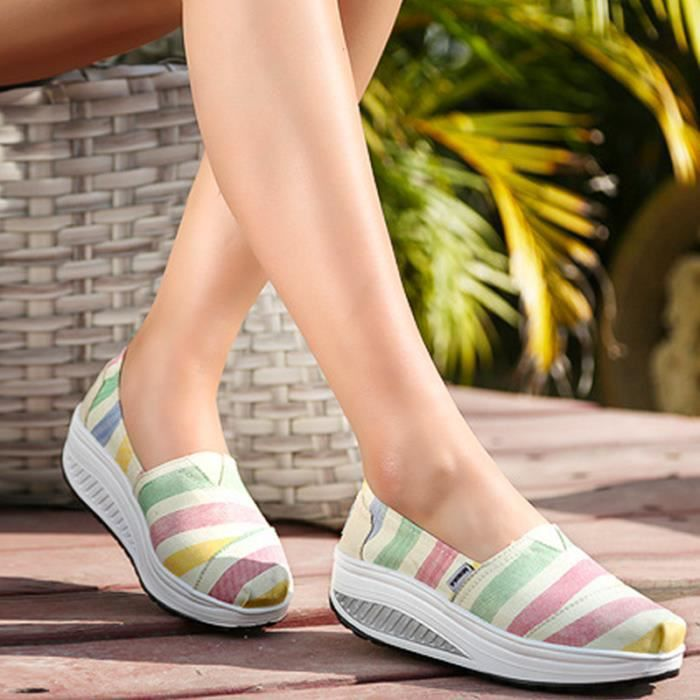chaussure femmes Nouvelle arrivee Moccasin plates à fond épais Marque De Luxe Loafer femme hauteur croissante chaussures