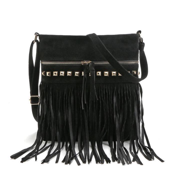 sac à main Mode Tassel femmes Sacs de haute qualité épaule Sacs Designer Ladies bandoulière Bolsa Feminina-724