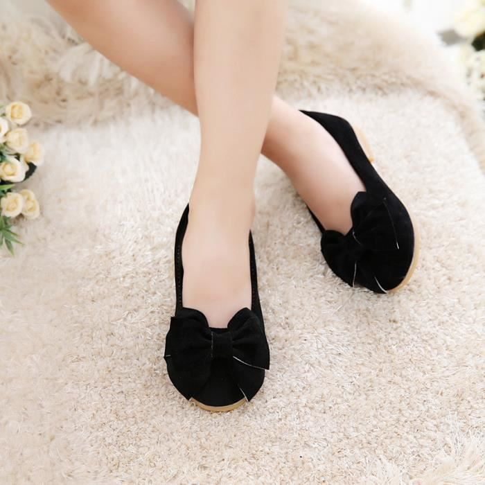 Fille Chaussures Mocassin Nœud Papillons Casual Taille 21-36 gRZwOmv2dz