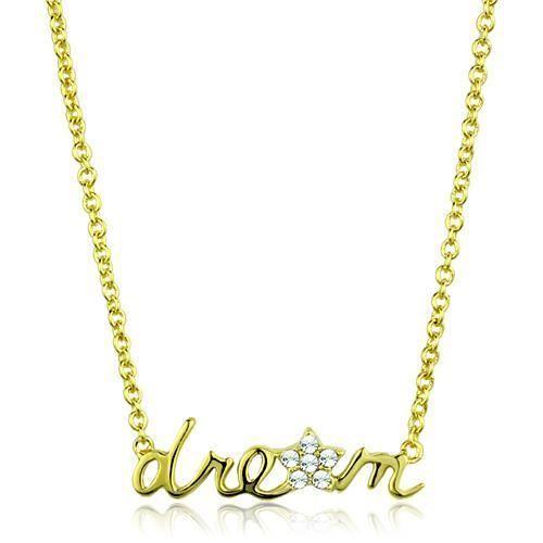 BestOfBijoux® Collier Femme Dream en Or Jaune 14ct [41+7cm/16+3inch]
