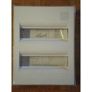 tableau electrique 2 rangees achat vente pas cher. Black Bedroom Furniture Sets. Home Design Ideas
