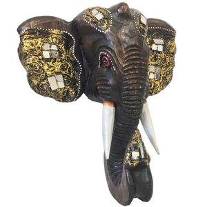 OBJET DÉCORATION MURALE Decoration murale en bois - Tête d'elephant