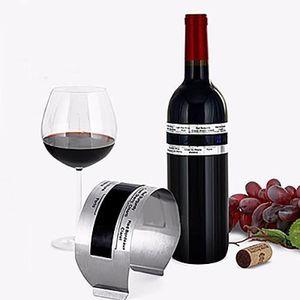 THERMOMÈTRE VIN Thermomètre à vin bracelet en acier inoxydable à v