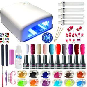 LAMPE UV MANUCURE Kit manucure BLANC 10 vernis semi permanents uv