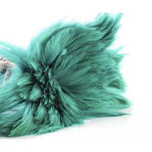 Plume de déco 40pcs Bleu Turquoise Teint les Plumes de Coq Pende ffb1c55737e