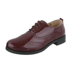 MOCASSIN Femme chaussures flâneurs lacer Bordeaux 40