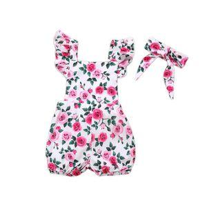 c94701ab71c93 Ensemble de vêtements 2pcs infantile pour bébé fille fleur vêtements imp ...