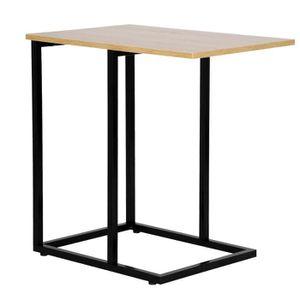 TABLE BASSE WOLTU Table basse en métal et bois ,Table à thé ,T