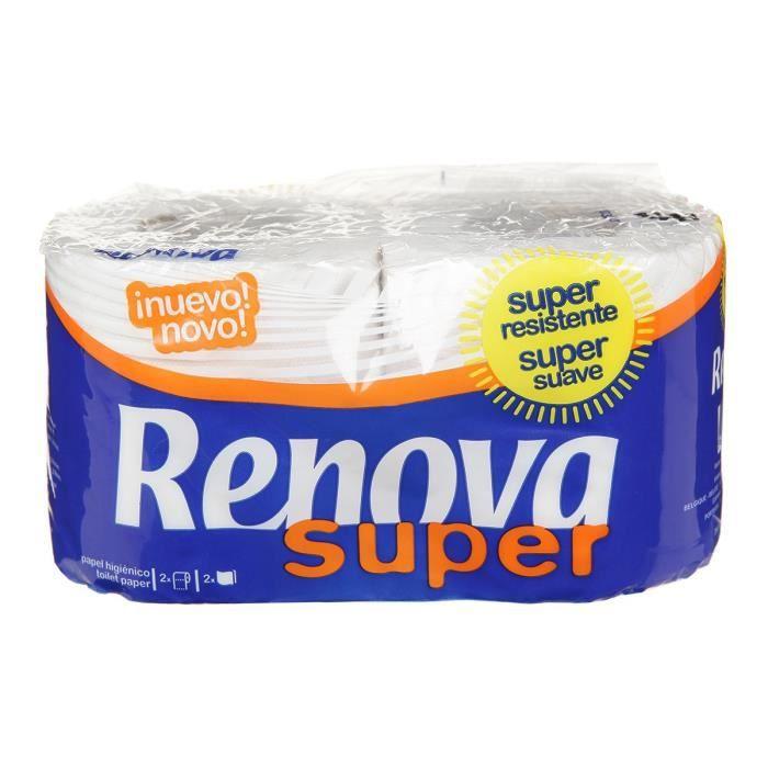 VILEDA Lot de 2 rouleaux de papiers toilettes Renova Super