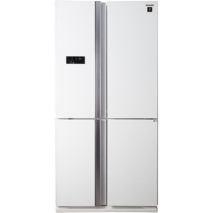 SHARP - SJ-FS810VWH - Réfrigérateur Multi-portes - 600L (393L+207L) - Froid ventilé No Frost - A+ -