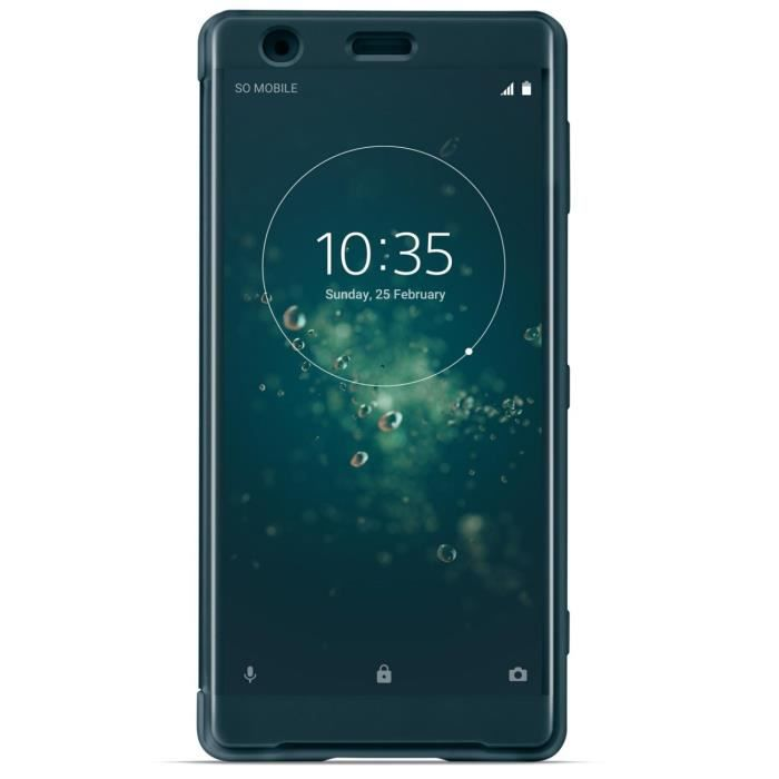 Sony Style Cover Touch pour XZ2 Bleu Vert
