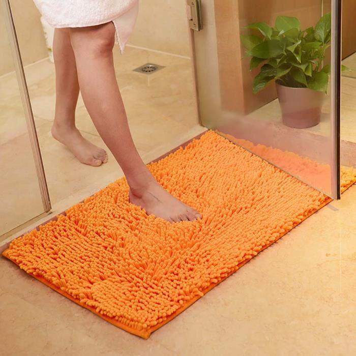 Tapis salle de bain orange achat vente pas cher - Tapis de salle de bain pas cher ...