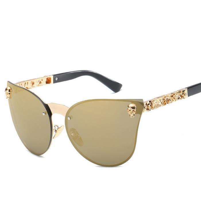 52c4c59eec273f Deuxsuns®Hommes Femmes Carré Vintage Miroir Lunettes de Soleil Lunettes  Sports de Plein Air Glasse