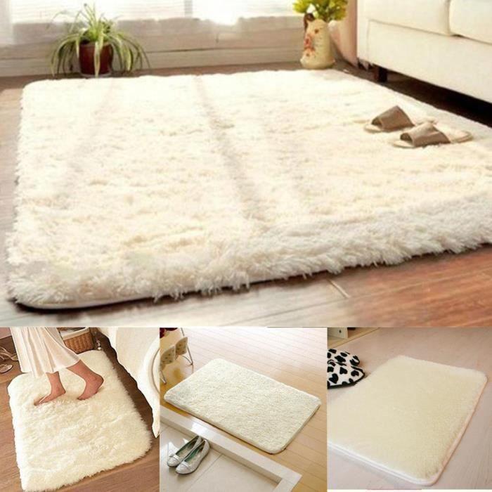 latest cm antidrapant tapis salon salle de bain chambre shaggy tapis en laine beige with tapis. Black Bedroom Furniture Sets. Home Design Ideas