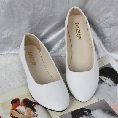 Version coréenne de chaussures chaussures plates simples chaussures multicolores, blanc 39