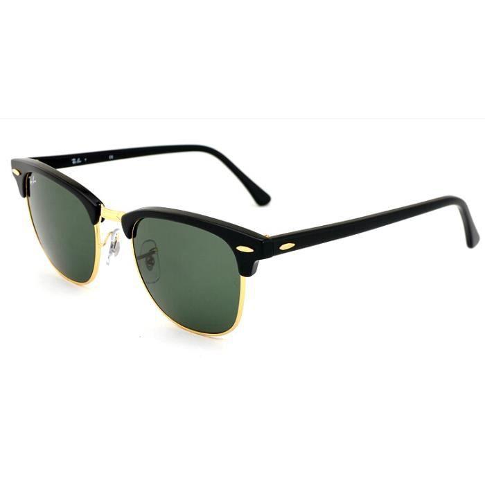 51mm Mixte rb3016 W0365 clubmaster lunettes de soleil rouge rétro ... 6e9117519f33