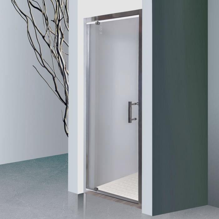 CREAZUR Porte pivotante Nerina 6mm 90 cm avec cadre en aluminium ... bd4198ff68e