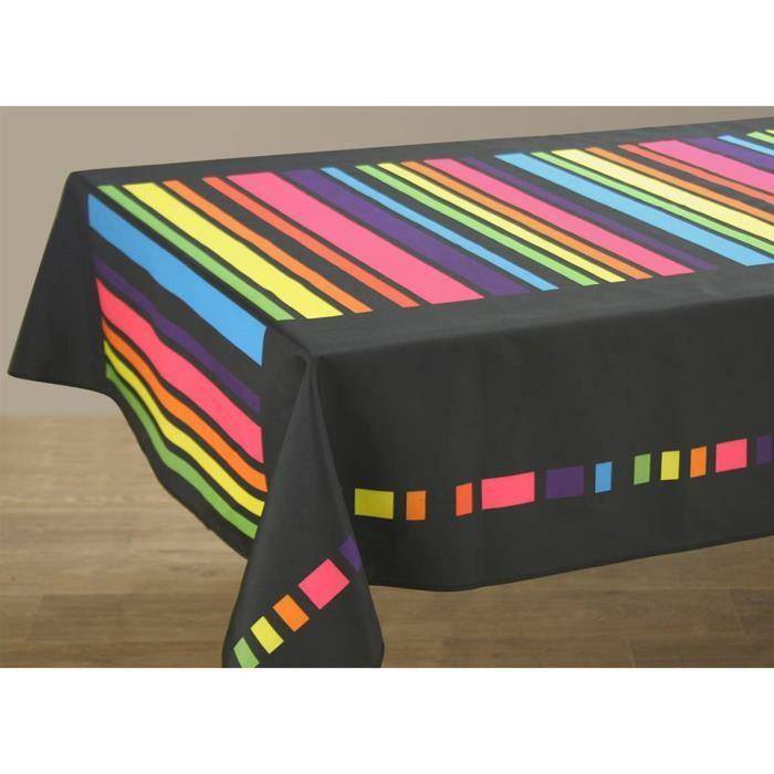 Nappe anti-taches Colors noir - taille : Ovale 150x250 cm - Achat ...