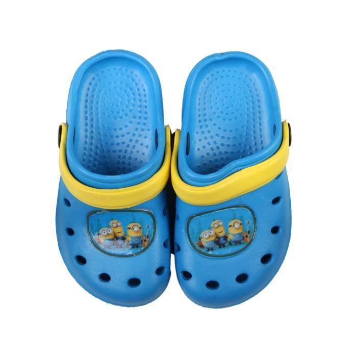 Sabot de plage enfant bleu Minions fapbMh15