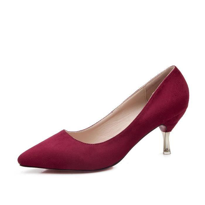 Escarpins Chaussures Femme Rouge