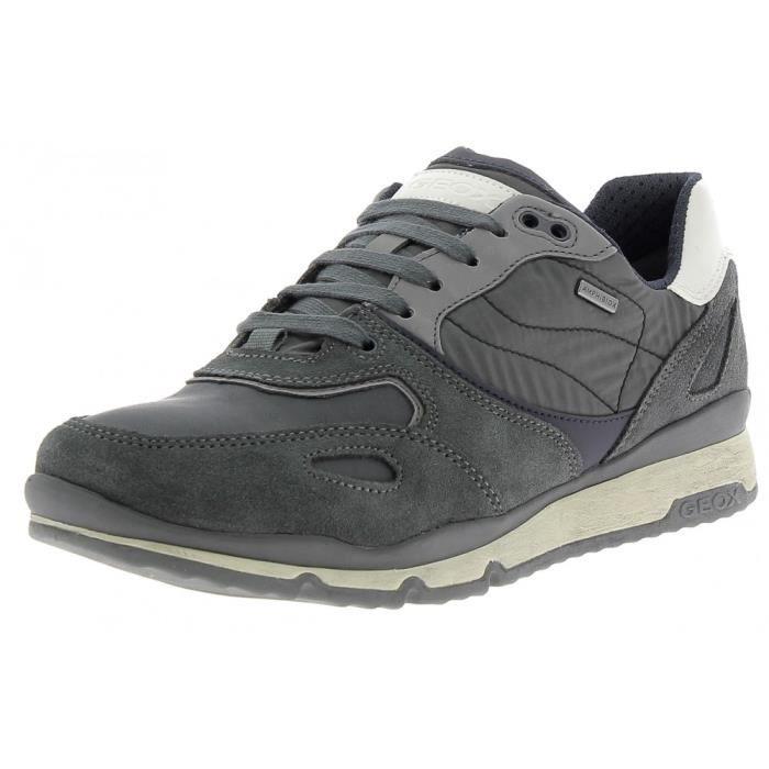 Geox U Dennie A Chaussures de Sport Homme Bleu bleu - Livraison Gratuite avec - Chaussures Chaussures-de-sport Homme