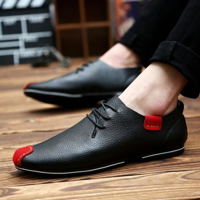 Ashion Flats Chaussures Hommes Mocassins Souliers simple en cuir véritable homme Flats Oxford Chaussures Chaussures Hommes Driving AYaju7VqZ6