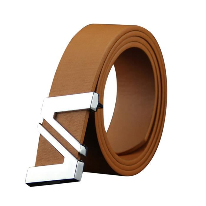 7a6efba6ee20 Mode Homems Ceinture en cuir de lisse boucle de ceinture Courroie de  ceinture loisirs