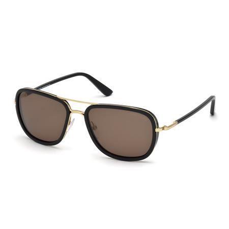 973840e3628f94 TOM FORD RICCARDO TF340 28J - Achat   Vente lunettes de soleil Doré ...