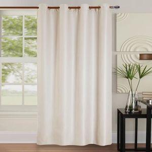 double rideaux chocolat achat vente double rideaux. Black Bedroom Furniture Sets. Home Design Ideas