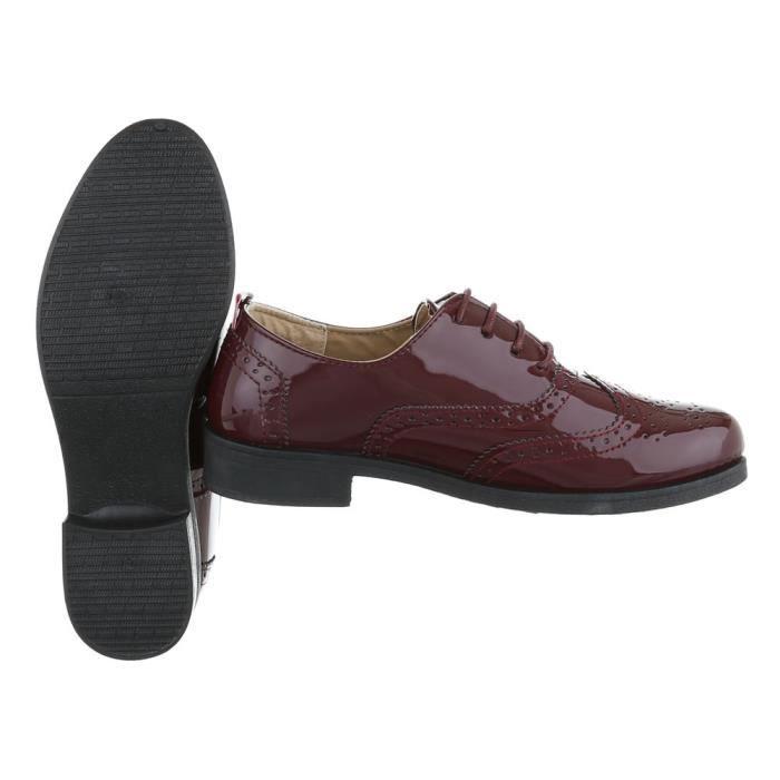 Femme chaussures flâneurs lacer Bordeaux 40