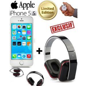 SMARTPHONE INEDIT - APPLE IPHONE 5S ARGENT 16 Go + CASQUE