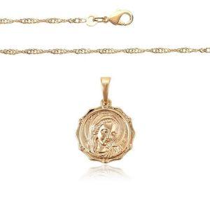 SAUTOIR ET COLLIER Lourdes Chaîne et médaille Vierge Miraculeuse Lami 93e108aa016