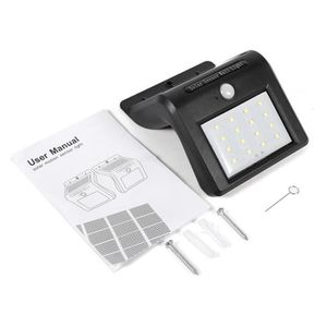 LAMPE DE JARDIN  16 LED Solaire Lampe PIR Capteur Détecteur Mouveme