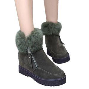 BOTTE Femmes Bottes Zipper Side Bottes de neige plus vel