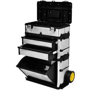 DESSERTE CHANTIER Caisse valise coffre boîte à outils à roulette Ser