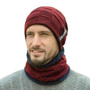 ECHARPE - FOULARD UMIWE Bonnet chaude avec Écharpe hiver pour homme 302238e101d