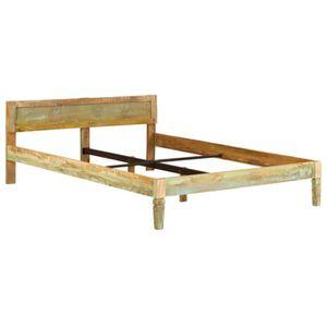 STRUCTURE DE LIT Cadre de lit Bois de manguier massif avec finition