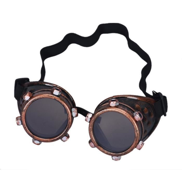 Objectif 177 bricolage Lunettes Copper Punk Red Steampunk interchangeables Props coupe vent xw6HTqr6Y