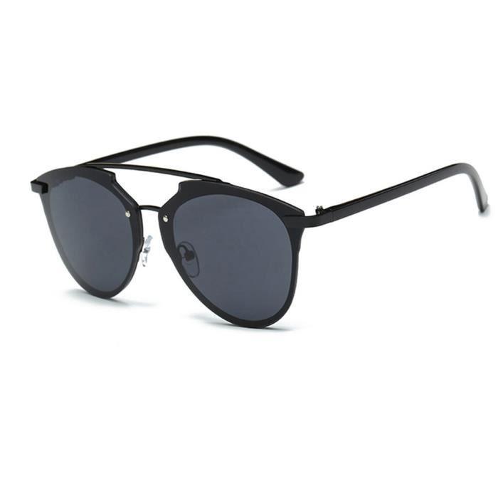 Femmes hommes été Vintage rétro carré dégradé couleur verres lunettes de  soleil de mode Pièces noir 2fcb05172f8c